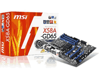 MSI X58A-GD65 Motherboard Manual
