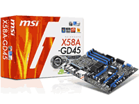 MSI X58A-GD45 Motherboard Manual