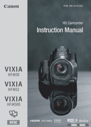 Canon VIXIA HF M50 Instruction Manual Screenshot