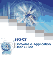 MSI Software & Application User Guide (G52-XXXX1HA) Screenshot