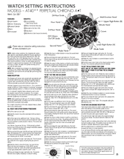 Citizen Models AT40** Perpetual Chrono A-T Watch Setting Instructions Screenshot