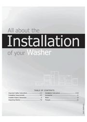 Frigidaire Affinity FAFS4174NR/A/W Installation Instructions Screenshot
