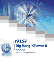 MSI Big Bang-XPower II User Manual Screenshot