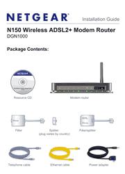 Netgear DGN1000 Installation Guide Screenshot