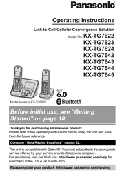 Panasonic KX-TG7622B/TG7623B/TG7624B Operating Instructions Screenshot