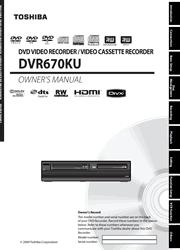 Toshiba DVR670KU Owner Manual Screenshot
