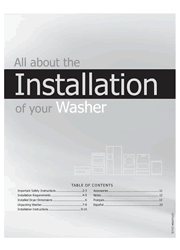 Frigidaire Affinity FAFW3921NW Washer Installation Instructions Screenshot