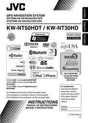 JVC KW-NT50HDT/NT30HD Instructions Screenshot