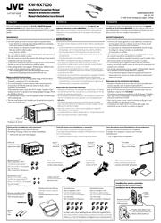 JVC KW-NX7000 Installation/Connection Manual Screenshot