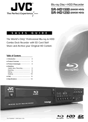 JVC SR-HD1250/HD1500 Sales Guide Screenshot