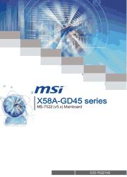 MSI X58A-GD45 MS-7522 User Manual Screenshot