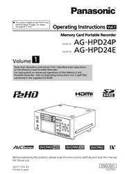 Panasonic AG-HPD24P/HPD24E Operating Instructions Screenshot