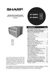 Sharp AF-Q60RX/Q80RX Installation and Operation Manual Screenshot
