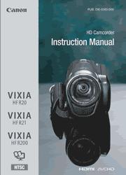 Canon VIXIA HF R20/R21/R200 Instruction Manual Screenshot