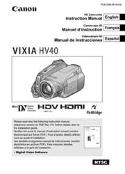 Canon VIXIA HV40 Instruction Manual Screenshot