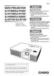 Casio XJ-H2600/H2650 Quick Start Guide Screenshot