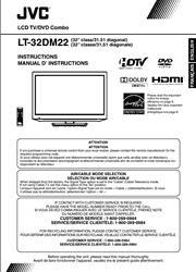 JVC LT-32DM22 TV Instructions Screenshot