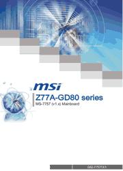 MSI Z77A-GD80 MS-7757 Motherboard User Manual Screenshot
