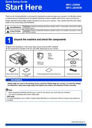 Brother MFC-J280W/J625DW Printer Quick Setup Guide Screenshot