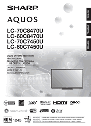 Sharp LC-60C7450U/60C8470U/70C7450U/70C8470U TV Operation Manual Screenshot