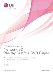 LG BP325W Blu-ray Disc Player Owner Manual Screenshot