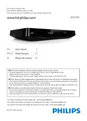 Philips BDP2985/F7 Blu-ray Disc Player User Manual Screenshot