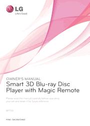 LG BP730 Blu-ray Disc Player Owner Manual Screenshot