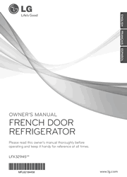 LG LFX32945ST Refrigerator Owner Manual Screenshot