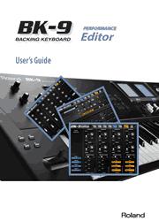 Roland BK-9 Backing Keyboard User Guide Screenshot
