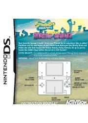 SpongeBob SquarePants: Plankton\'s Robotic Revenge Nintendo DS Instruction Booklet Screenshot