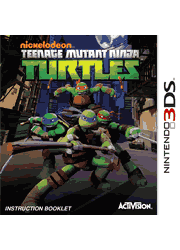 Teenage Mutant Ninja Turtles Nintendo 3DS Instruction Booklet Screenshot