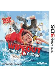 Wipeout Create & Crash Nintendo 3DS Instruction Booklet Screenshot