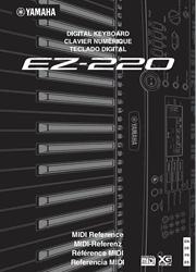 Yamaha EZ-220 Keyboard MIDI Reference Screenshot