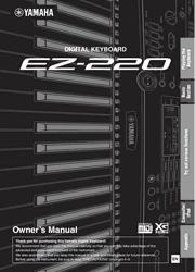 Yamaha EZ-220 Keyboard Owner Manual Screenshot